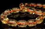 シトリン 10mm チューブ ブレスレット_BG420-10 天然石 卸売問屋 パワーストーン卸通販の福縁閣 ブレスレット 連ビーズ アクセサリー