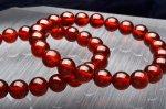 オレンジガーネット 9.5mm ブレスレット_B402-95 天然石 卸売問屋 パワーストーン卸通販の福縁閣 ブレスレット 連ビーズ アクセサリー