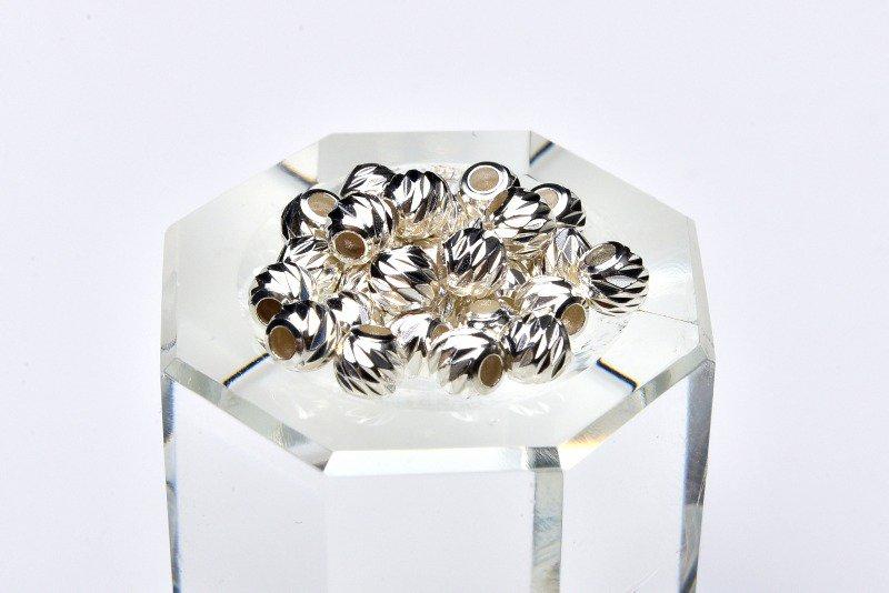 Silver925 ロンデル銀 2gセット(約30粒) 3mm ハンドメイドパーツ_KZ123 天然石 卸売問屋 パワーストーン卸通販の福縁閣 ブレスレット 連ビーズ