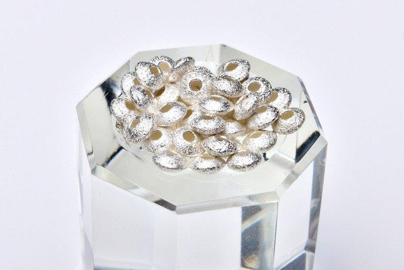 Silver925 ロンデル銀 2gセット(約40粒) 3mm ハンドメイドパーツ_KZ126 天然石 卸売問屋 パワーストーン卸通販の福縁閣 ブレスレット 連ビーズ