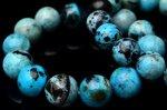 希少 ブルーオパール 10mm ブレスレット_BG957-10 天然石 卸売問屋 パワーストーン卸通販の福縁閣 ブレスレット 連ビーズ アクセサリー