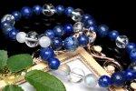 ツタンカーメン王の黄金マスク 瑠璃ラピスラズリxシラーコラボ男女ペアブレス 当店オリジナルブレス_A1009