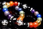 【七難即滅 七福即生】厄除け7色xスピネル チャクラブレス(水晶さざれ50g付) 当店オリジナルブレス_A1062