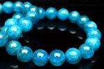 ブルーアパタイト 10mm ブレスレット_B700-10 天然石 卸売問屋 パワーストーン卸通販の福縁閣 ブレスレット 連ビーズ アクセサリー