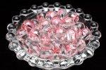 【10粒セット】彫刻 水晶 桜ピンク彫り 10mm 粒売り_T563-10