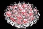 【8粒セット】彫刻 水晶 桜ピンク彫り 12mm 粒売り_T563-12