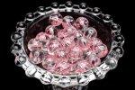 【10粒セット】NEW 彫刻 水晶 桜ピンク彫り 10mm 粒売り_T564-10