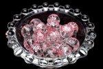 【8粒セット】NEW 彫刻 水晶 桜ピンク彫り 12mm 粒売り_T564-12