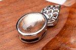 ピンクゴールド ギベオン 9x6.5mm ペンダントトップ バチカン_PR3097-2