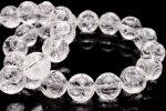 水晶 12mm フクロウ彫刻 ブレスレット_B848-12