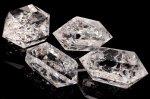 クラック水晶 ダブルポイント 50-59g 浄化用 インテリア用 原石_CR1426-3 【宅急便のみ】