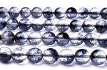 ブラッククラック水晶 8mm 1連(約38cm)_RG300-8