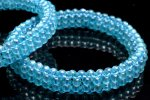ブルーアパタイト 3.5mm 手編み バングル_B884