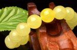【1点物】希少なレモンカラー!AAAA イエロースミソナイト  10.5mm ブレスレット_H6336