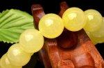 【1点物】希少なレモンカラー!AAAA イエロースミソナイト  13.5mm ブレスレット_H6337