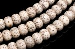 リンデン(菩提樹)の種 8x10mm ウッドビーズ ボタン 1連(約82cm)_R5917-3