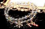 クリスマスパーティーにも最適!キラキラ水晶2連ブレスレット パワーストーン 当店オリジナル_A1093