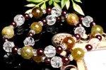 【勝利の石柘榴石】ガーネット×グリーンガーネット「1月誕生石」 当店オリジナルブレス_A1103