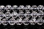 水晶 8mm バッキーボールカット 1連(約38cm)_R5918-8