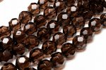 スモーキークォーツ(茶水晶) 6mm バッキーボールカット 1連(約38cm)_R5919-6