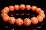 【1点物】ビタミンカラー! オレンジカルサイト 11mm ブレスレット_I6596