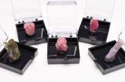 ミニチュアコレクション トルマリン 5個セット 33.5x35mm 鉱物標本 原石_CR1470 【宅急便のみ】