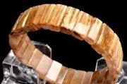 【1点物】黄金の輝き タイチンルチルクォーツ 8x15mm バングル_I8311