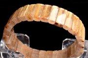 【1点物】黄金の輝き タイチンルチルクォーツ 8x15mm バングル_I8313