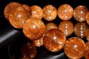 【1点物】赤針水晶 レッドブロンズルチルクォーツ 13.5mm ブレスレット_I7978