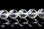 水晶64面カット 12mm 1連(約38cm)_R7 天然石 卸売問屋 パワーストーン卸通販の福縁閣 ブレスレット 連ビーズ アクセサリー