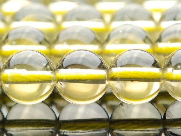 レモンクォーツA 8mm 1連(約38cm)_R43 天然石 卸売問屋 パワーストーン卸通販の福縁閣 ブレスレット 連ビーズ