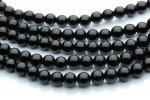 黒水晶(モリオン)AA 6mm 1連(約38cm)_R150 天然石 卸売問屋 パワーストーン卸通販の福縁閣 ブレスレット 連ビーズ アクセサリー