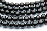 黒水晶(モリオン)AA 8mm 1連(約38cm)_R151 天然石 卸売問屋 パワーストーン卸通販の福縁閣 ブレスレット 連ビーズ アクセサリー