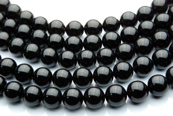 黒水晶(モリオン)AA 10mm 1連(約38cm)_R152 天然石 卸売問屋 パワーストーン卸通販の福縁閣 ブレスレット 連ビーズ