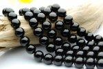 黒水晶(モリオン)AA 12mm 1連(約38cm)_R153 天然石 卸売問屋 パワーストーン卸通販の福縁閣 ブレスレット 連ビーズ アクセサリー