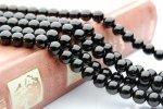 ブラックスピネル 6mm 1連(約38cm)_R136 天然石 卸売問屋 パワーストーン卸通販の福縁閣 ブレスレット 連ビーズ アクセサリー