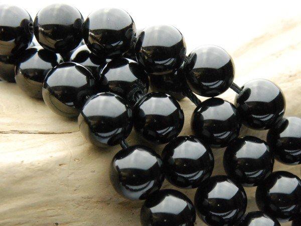 ブラックスピネル 8mm 1連(約38cm)_R137 天然石 卸売問屋 パワーストーン卸通販の福縁閣 ブレスレット 連ビーズ