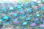 ブルーオーラ水晶 16mm 1連(約38cm)_R312 天然石 卸売問屋 パワーストーン卸通販の福縁閣 ブレスレット 連ビーズ アクセサリー