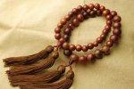 赤檀数珠 15mm 念珠[N3235] 天然石 卸売問屋 パワーストーン卸通販の福縁閣 ブレスレット 連ビーズ アクセサリー