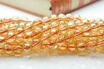 水晶アンバーオーラ(ライト) 8mm 1連(約38cm)_R414 天然石 卸売問屋 パワーストーン卸通販の福縁閣 ブレスレット 連ビーズ アクセサリー