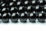 ブラックトルマリン 12mm 1連(約38cm)_R524 天然石 卸売問屋 パワーストーン卸通販の福縁閣 ブレスレット 連ビーズ アクセサリー
