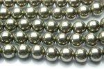 パイライト 8mm 1連(約38cm)_R571 天然石 卸売問屋 パワーストーン卸通販の福縁閣 ブレスレット 連ビーズ アクセサリー