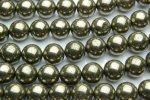 パイライト 10mm 1連(約38cm)_R572 天然石 卸売問屋 パワーストーン卸通販の福縁閣 ブレスレット 連ビーズ アクセサリー