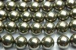 パイライト 12mm 1連(約38cm)_R573 天然石 卸売問屋 パワーストーン卸通販の福縁閣 ブレスレット 連ビーズ アクセサリー