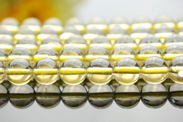 レモンクォーツA 6mm 1連(約38cm)_R618 天然石 卸売問屋 パワーストーン卸通販の福縁閣 ブレスレット 連ビーズ