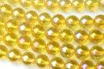 水晶ゴールデンオーラ 12mm 1連(約38cm)_R796 天然石 卸売問屋 パワーストーン卸通販の福縁閣 ブレスレット 連ビーズ アクセサリー