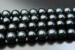 希少 黒翡翠ミャンマーブラックジェイドA 12mm 1連(約38cm)_R863 天然石 卸売問屋 パワーストーン卸通販の福縁閣 ブレスレット 連ビーズ アクセサリー