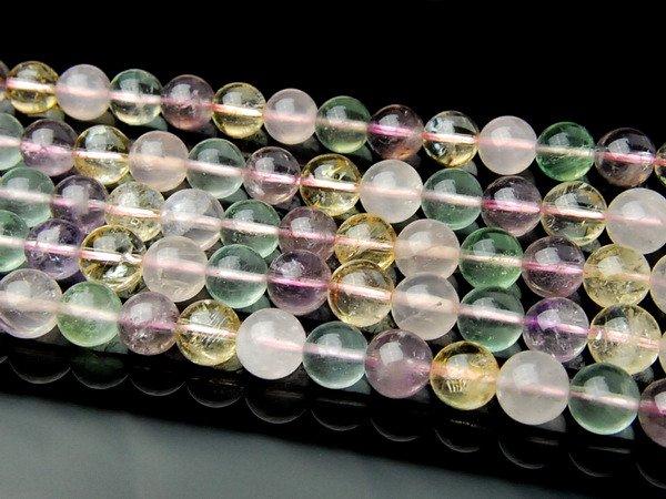 水晶ミックス 8mm 1連(約38cm)[R1037] 天然石 卸売問屋 パワーストーン卸通販の福縁閣 ブレスレット 連ビーズ