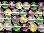 水晶ミックス 10mm 1連(約38cm)[R1038] 天然石 卸売問屋 パワーストーン卸通販の福縁閣 ブレスレット 連ビーズ アクセサリー