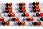 天然石ミックス 8mm 1連(約38cm)_R1130 天然石 卸売問屋 パワーストーン卸通販の福縁閣 ブレスレット 連ビーズ アクセサリー